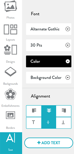 Add Text To Your Projects Snapfish Help