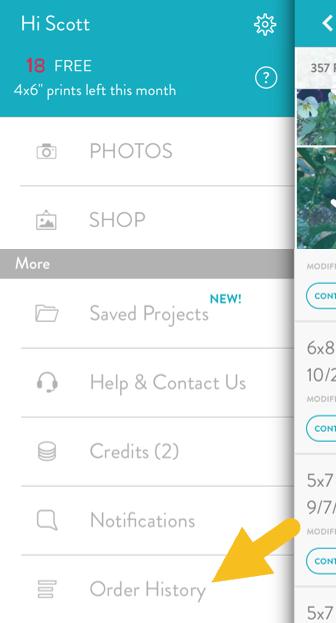 check order status with the iphone ipad app snapfish help