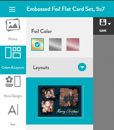 Change foil color in Layout menu