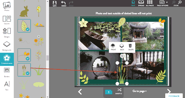 Adding embellishments to your project layouts