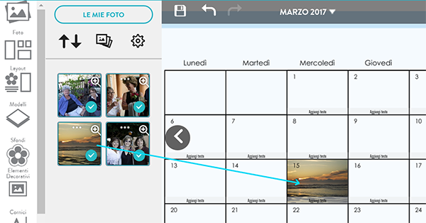 Esempio Calendario.Aggiungi Una Foto In Una Data Del Tuo Calendario Snapfish