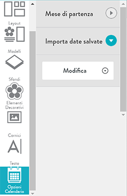 Import saved calendar dates